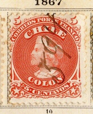 Chili 1867 Early Issue Fine Used 5c. 095297