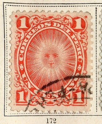 Peru 1895-96 Early Issue Fine Used 1c. 095317