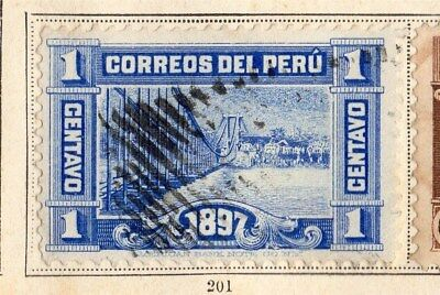 Peru 1897 Early Issue Fine Used 1c. 095334