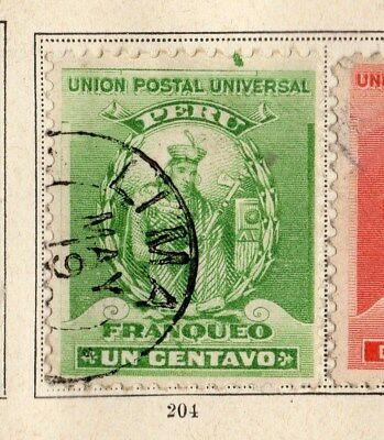 Peru 1898-99 Early Issue Fine Used 1c. 095337