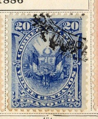 Peru 1896 Early Issue Fine Used 20c. 095344