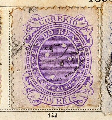 Brazil 1890 Early Issue Fine Used 200r. 095384