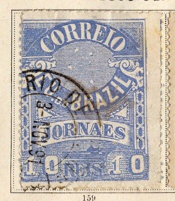 Brazil 1890 Early Issue Fine Used 10r. 095389