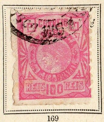 Brazil 1893 Early Issue Fine Used 100r. 095395