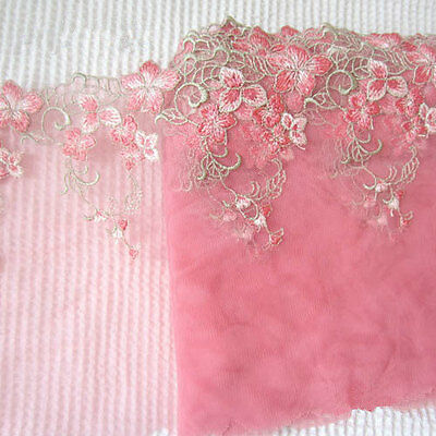 45 x 17,5 cm Lace Trimming Embroidered Floral Edge ,Skirt making for Bear