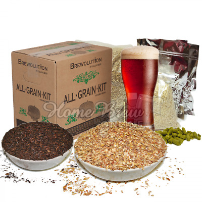 Brewolution Home Brew All Grain Beer Complete Recipe Kit Crushed Malt - CHOICE