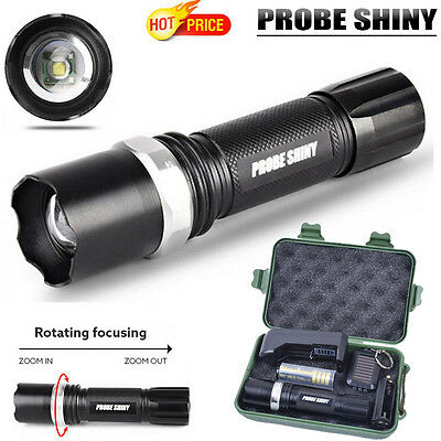 Super Bright 3 Mode Zoomable XML Q5 LED 18650 Flashlight Torch Zoom Lamp Light