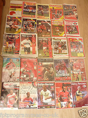 Charlton AthleticHome Programmes 1980/81 to 2008/09 Select the one you want