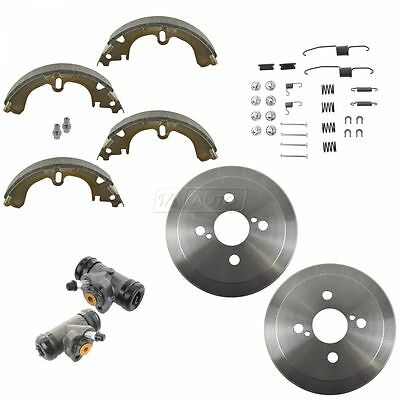 Rear Brake Drum Shoe Spring & Wheel Cylinder Kit for Toyota Corolla Chevy Prizm