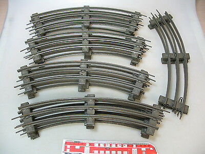 AP774-3# 14x Märklin 1 gauge Track piece bent for electric Operated for 8-piece