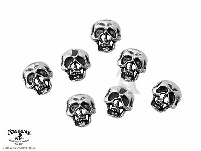 Alchemy Gothic Skull Pewter Shirt Buttons BRAND NEW