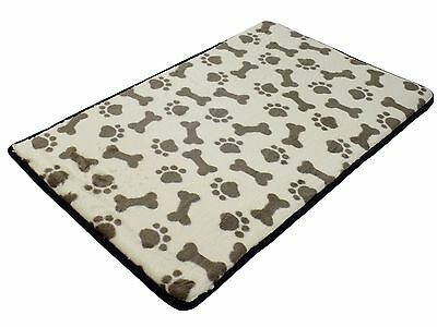 High Density Tired Joints Warm Memory Foam Beige Pet Dog Mat Paws Soft 50 X 80Cm