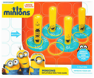 Despicable Me Minions Inflatable Ring Toss Game Great Indoor Outdoor Fun Gift