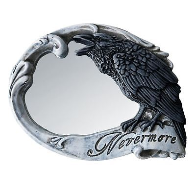 Alchemy Gothic Nevermore The Raven Edgar Allan Poe Compact Hand Mirror