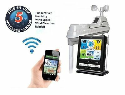 New Acurite Wireless Professional Weather Station 5-in-1|Colour Monitor|Phoneapp