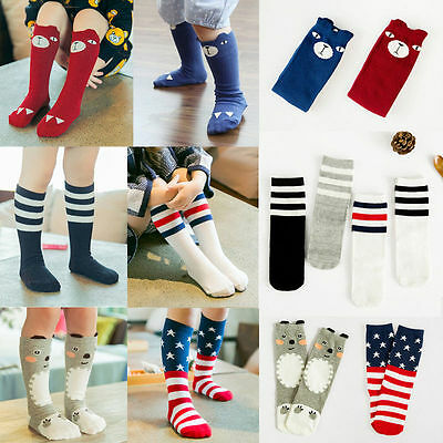 Baby Girls Boys Toddler Kid Children Knee High Length Warmer Cotton Socks Tights