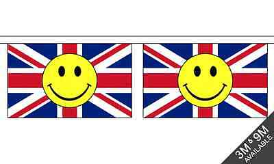 Union Jack Smiley Horizontal - 3 meter lang, 10 flagge fahne