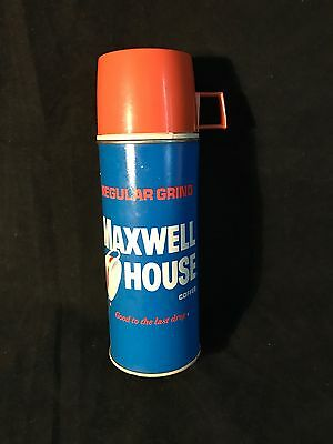 Vintage Maxwell House Coffee Thermos 1960's General Foods USA
