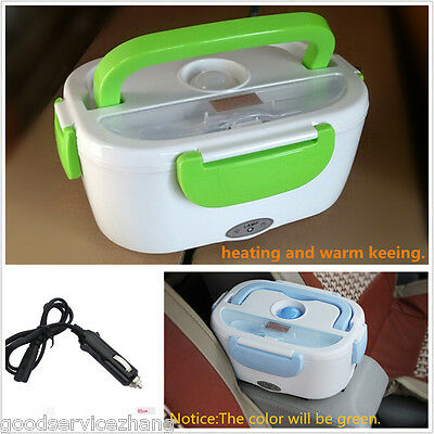 12V Portable Electric Heating Lunch Box Meal Heater Rice Dinner Food Container