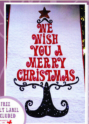 Clearance - My Christmas Wish Hanging - piece & applique wall quilt PATTERN