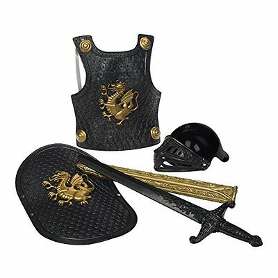 NEW Black Deluxe Knight in Shining Armor Set For Kids 5 Year & Above By Toysmith