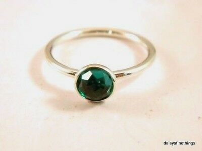 Nwt Authentic Pandora Ring May Droplet Synth Green Birthstone #191012Nrg