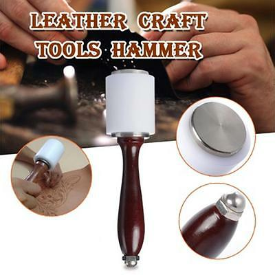 Hammer Leather Craft Carving Install Tools DIY Cowhide Wooden Mallet Wood Nylon