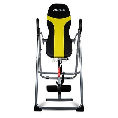 ANCHEER Fitness Inversion Table Back Therapy Fitness Gravity Pain Relief Hang