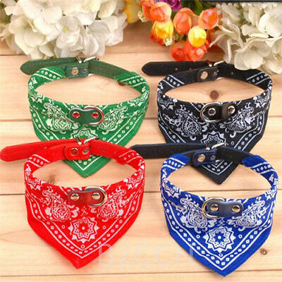 Adjustable Pet Dog Puppy Cat Collars Neck Scarf Bandana with Collar Neckerchief