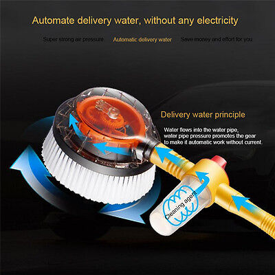 Wax Mop Microfiber Wash Brush Duster Rotating Dusting Brush Tool Car Removable