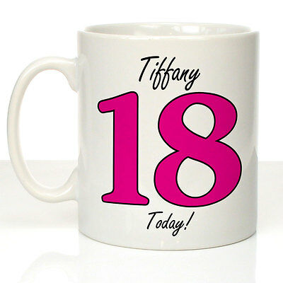Personalised 18th Birthday Mug Daughter Sister Girls 18th Party Gift Ideas Her