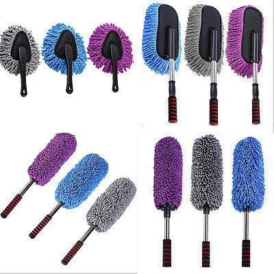 Brush Duster Telescoping / Removable Car Wash Wax Mop Microfiber Dusting Tool