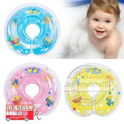 Baby Swimming Neck Float Inflatable Ring Adjustable Safety Aids For 0-18 Months