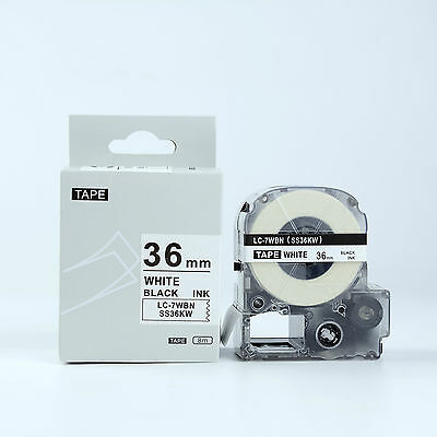 2X Compatible EPSON LC-7WBN Label Tape Black on white 36mm LW Serial Label LW900