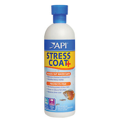 FREE SHIPPING API Stress Coat Aloe Vera 473mL Fish Tank Tap Water Conditioner