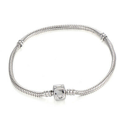 Child Sliver Plated Charm For DIY Beads Chain Link Bracelet Party