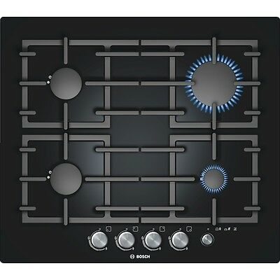 BOSCH PPP 616M91E  Built-in Black Glass Kitchen Gas Hob