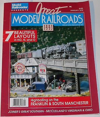 Great Model Railroads 1993 Magazine Highballing on the Franklin&South Manchester