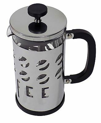 Glass Stainless Steel Silver Mirror Finish Coffee Bean 1L Coffee Maker Cafetiere