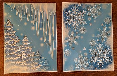 4 Glitter Window Corner Cling Sticker Snowflake Icicle Christmas Tree Decoration