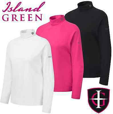 """""""new 2016"""" Island Green Ladies Golf Base Layer / Golf Roll Neck / Polo Neck Top"""