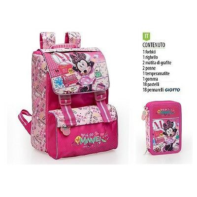 School Pack Offerta Minnie - Zaino Estensibile E Astuccio Accessoriato