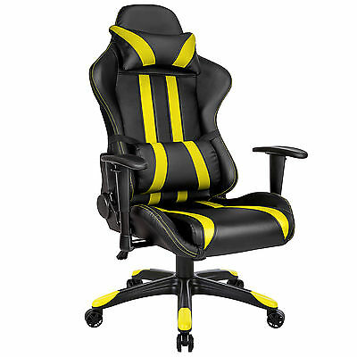 Silla De Oficina Sillon De Despacho Estudio Ergonomica Gaming Racing Amarillo