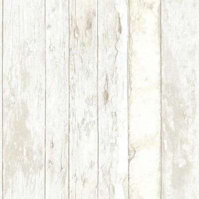 PE10030 Galerie Exposed Wallpaper Weathered Wood Effect Beige Grey White