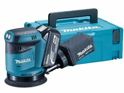 Makita DBO180RMJ 18v 125mm Random Orbit Sander 2 x 4.0Ah Li-ion