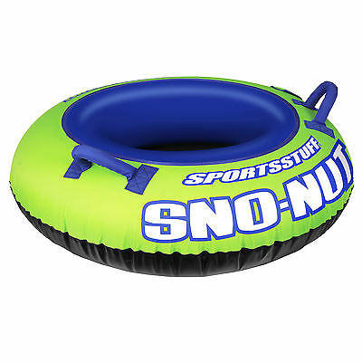 Sportsstuff Inflatable 48-Inch Sno-Nut Snow Tube with Foam Handles | 30-3201