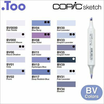 "Copic Sketch Marker Pen ""BV(Blue Violet) Color Series"""