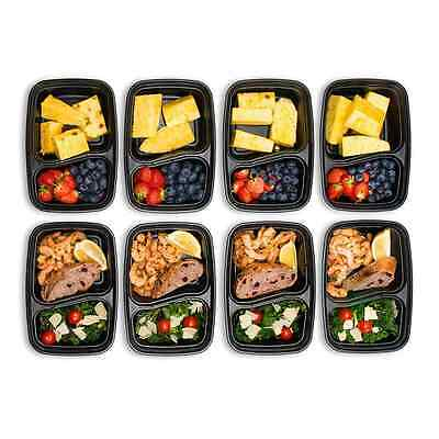 10Pc Bento Lunch Box With Lids Meal Prep Food Storage BPA Free Nutrition Control