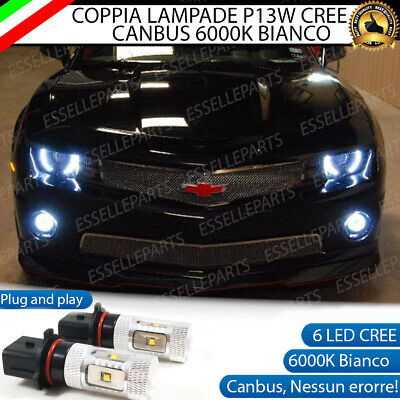2x LAMPADE P13W LED DRL LUCI DIURNE CHEVROLET CAMARO CANBUS BIANCO 6000K