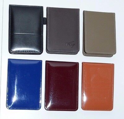 Stylish Leather Pocket Mini Note Pad Cover With Ruler Pad In 6 Different Colors
